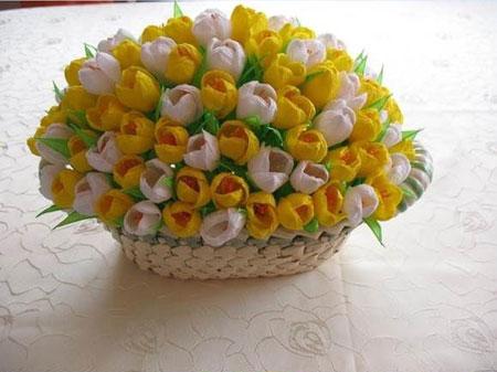 Цветы из гофрированной бумаги своими руками крокусы фото 666