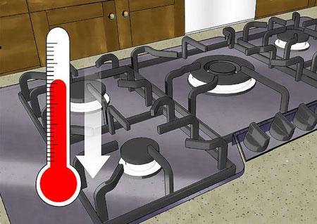 تمیز کردن و نگهداری از گاز, از بین بردن خش های روی گاز