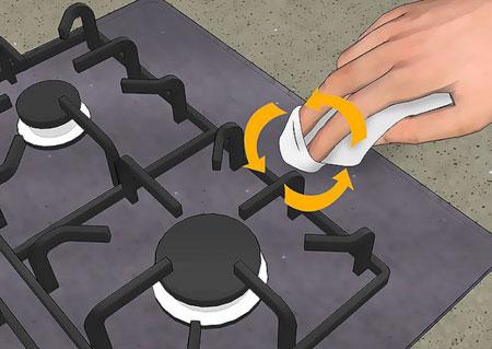 نحوه تمیز کردن گاز،تمیز کردن و نگهداری از گاز