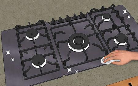 نکاتی برای نگهداری از گاز,اصول و نحوه تمیز کردن گاز