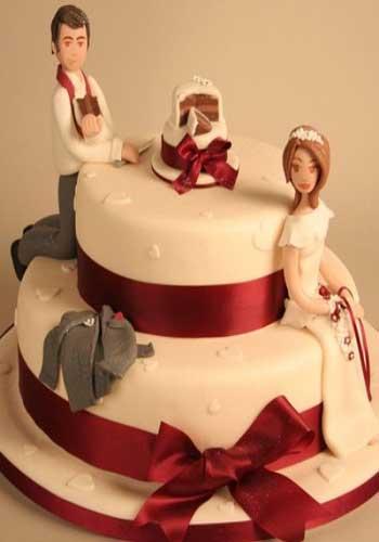 مدل کیک های عروسی فانتزی