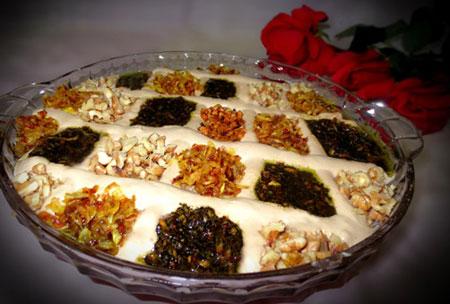 ایده برای تزیین حلیم بادمجان, تزیین حلیم بادمجان ماه رمضان