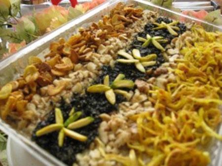 تزیین حلیم بادمجان,تزیین حلیم ماه رمضان