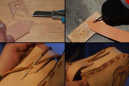 دوخت کیف چرمی با دست,طرز دوخت کیف چرمی