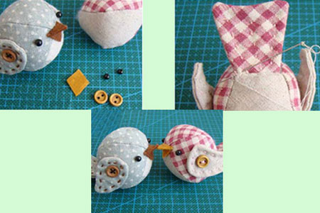 آموزش تصویری دوخت پرنده,درست کردن عروسک پارچه ای
