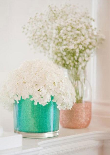 تبدیل شیشه ساده به گلدان براق و زیبا
