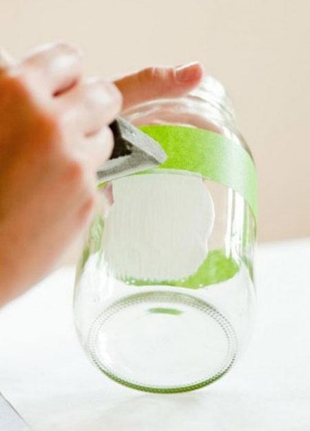 شیشه به شکل گلدان, ساخت گلدان با وسایل دورریختنی