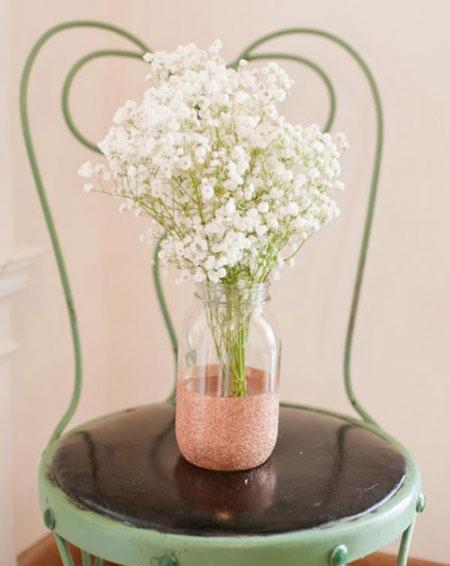 تزیین شیشه برای گلدان,تبدیل شیشه به گلدان