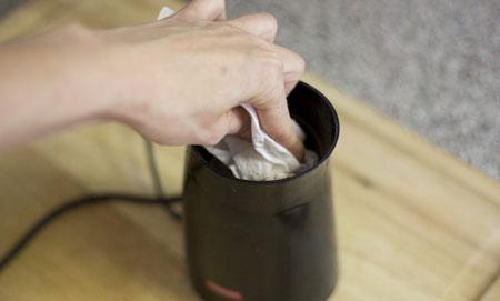 نحوه تمیز کردن آسیاب برقی کوچک,اصول تمیز کردن آسیاب برقی کوچک