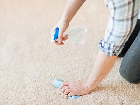 نحوه تمیز کردن محیط های آلوده خانه,شستن فرش