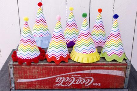 مراحل ساخت کلاه تولد,مدل کلاه رنگی تولد