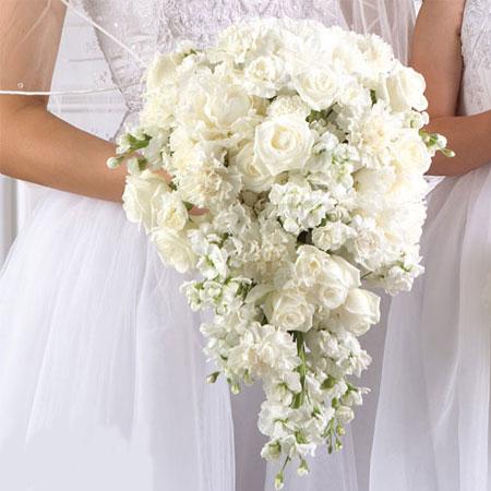 مدل دسته گل طبیعی عروس, دسته گل طبیعی آبشاری