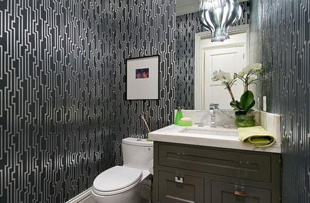 دیزاین حمام و دستشویی,دکوراسیون مشکی حمام و دستشویی