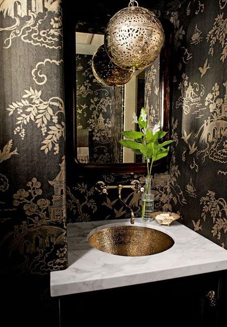 دیزاین مشکی حمام و دستشویی,دکوراسیون حمام و دستشویی