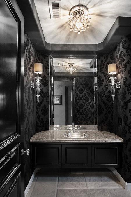 دکوراسیون مشکی حمام و دستشویی, دیزاین مشکی حمام و دستشویی