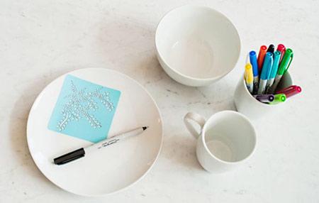 آموزش طراحی روی ظروف,نقاشی روی ظروف