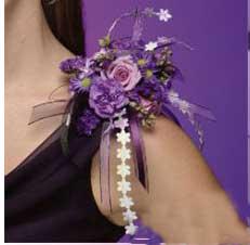 hou1149 مدل دسته گل عروس به صورت بازوبند