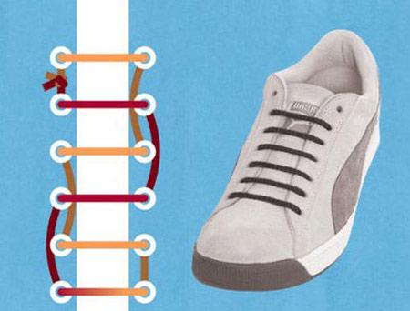 بستن بند کفش های متفاوت, آموزش تصویری بستن بند کفش