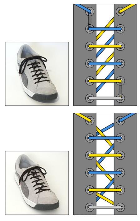 بستن بند کفش های متفاوت,مدل های بستن بند کفش