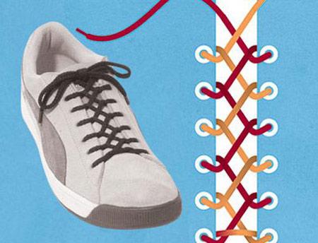 بستن بند کفش,مدل های بستن بند کفش