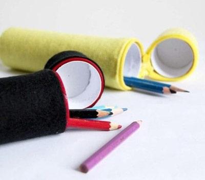 الگو جا مدادی نمدی آموزش ساخت جامدادی با رول دستمال توالت