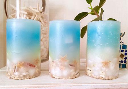تزیین شمع,مدل تزیین شمع