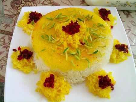 تزیین برنج,تزیین مجلسی برنج