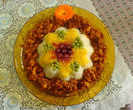 تزیین پلو مجلسی, زیباترین تزیین برنج