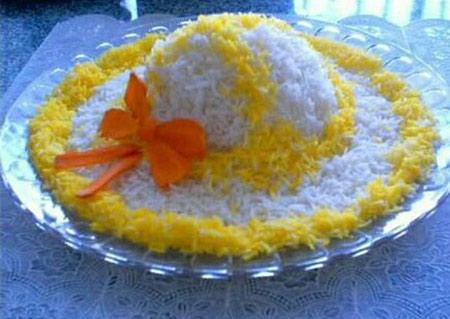 تزيينات برنج, تزيين برنج و پلو