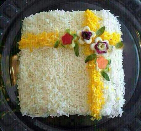 تزيين برنج و پلو,تزيين برنج