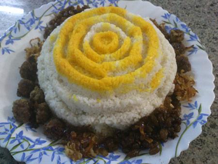 تزيين برنج,تزيين مجلسي برنج