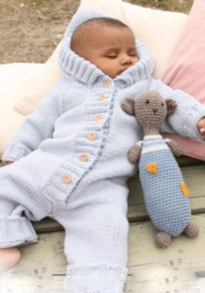 آموزش بافت لباس سرهمی نوزاد