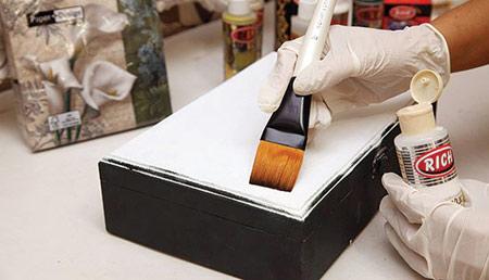 آموزش هنر پتینه,ساخت جعبه با پتینه
