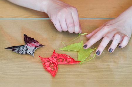 نحوه درست کردن پروانه پارچه ای, روش درست کردن پروانه
