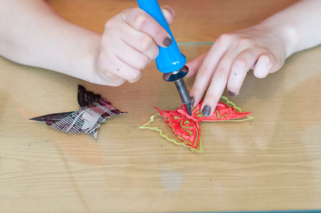 ساخت پروانه با هویه,روش درست کردن پروانه