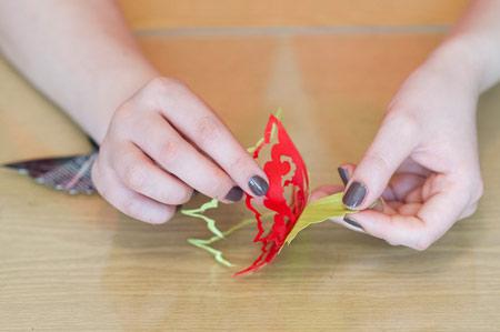 ساخت پروانه پارچه ای,آموزش ساخت پروانه