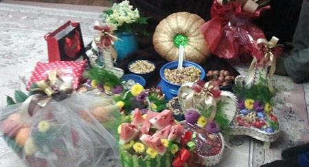 تزیینات هندوانه برای شب چله, تزیین هدایای شب یلدای عروس