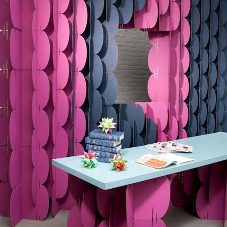 ساخت شابلون های دست ساز, دیوار جدا کننده رنگی