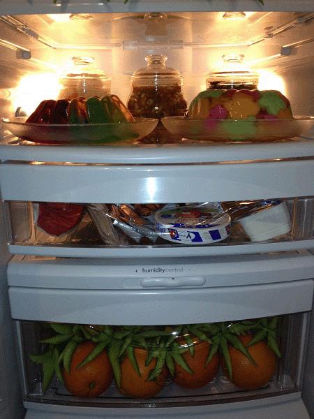 تزیینات یخچال عروس, میوه آرایی یخچال عروس