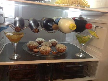 میوه آرایی یخچال عروس,تزیین لوازم یخچال عروس