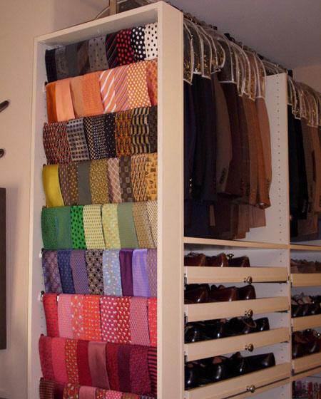 ساخت کشویی مناسب کروات و کمربند,روش مرتب کردن کشو و کمد