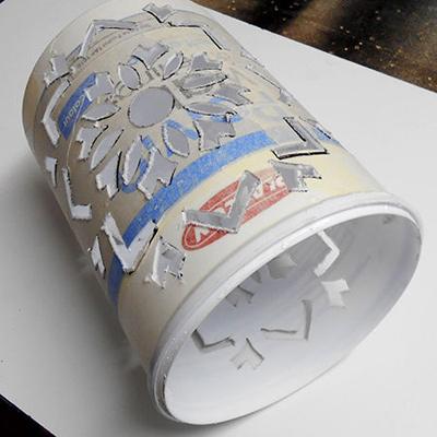 ساخت لوسترهای مقوایی, ساخت لوستر با لیوان های کاغذی