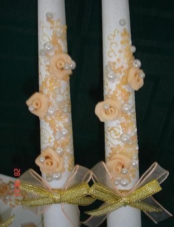 تزیین شمع و سینی عروس.مراحل تزیین کردن شمع برای عروس