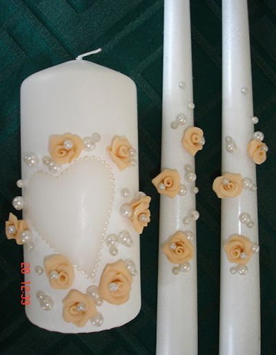 تزیین شمع عروسی, تزیین شمع و سینی عروسی