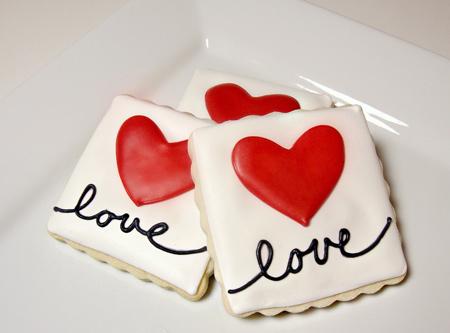 تزیین شیرینی های ولنتاین,کوکی روز ولنتاین