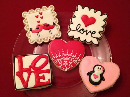 مدل تزیین شیرینی روز عشق,تزیین کوکی