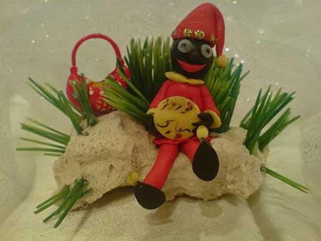 اموزش ساخت عروسک حاجی فیروز با خمیر چینی, عروسک حاجی فیروز