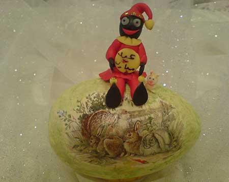عروسک حاجی فیروز,ساخت عروسک حاجی فیروز با خمیر چینی