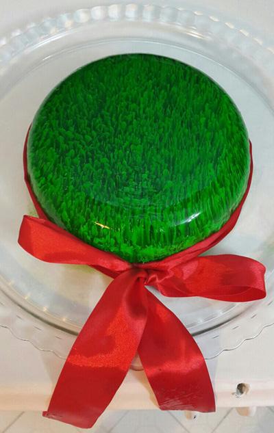 ژله هفت سین به شکل سبزه,ژله سبزه هفت سین