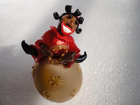 تزیین تخم مرغ حاجی فیروز 95,تزیین تخم مرغ عید 1395